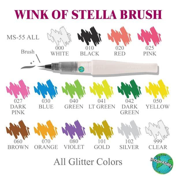 Glitter Wink Of Stella Brush is perfect for writing, adding controlled ...